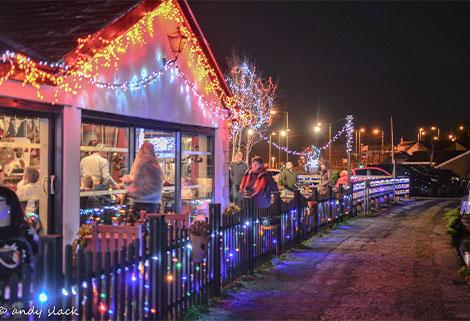 Christmas lights Carnforth