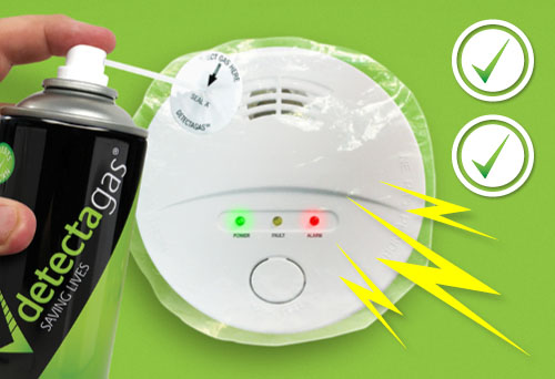 Detectagas co alarm testing