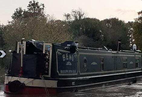 RCR refloated boat