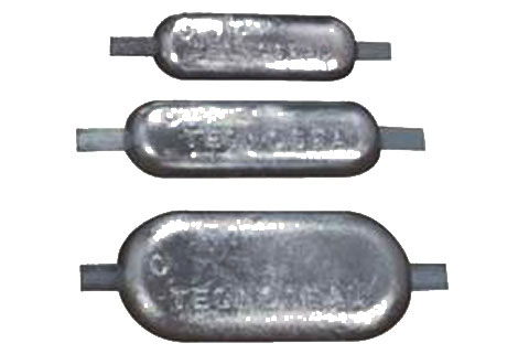 anodes - magnesium anodes for welding on to a narrowboat