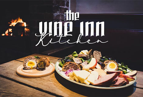 Kitchen logo for the Vine Inn, Rugeley
