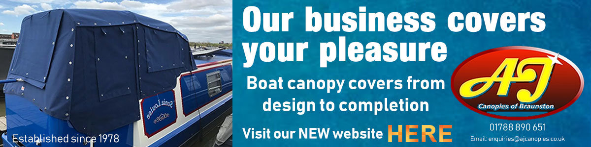 AJ Canopies Cratch Covers for narrowboats