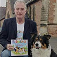 Dave Robertson with his border collie Misty