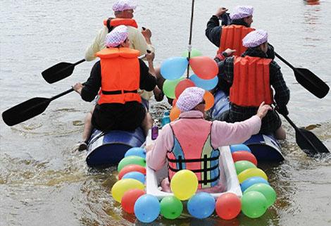 RNLI raft race at Overwater Marina