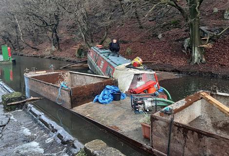 rcr rescue boat at Hebden Bridge