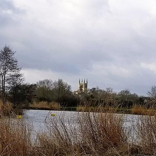 River Avon upstream from Pershore
