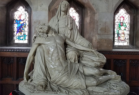 statue in Church of St John the Evangelist, Bath
