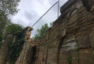 ornamental bridge damage on grand union