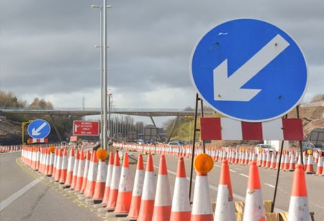 UK road works