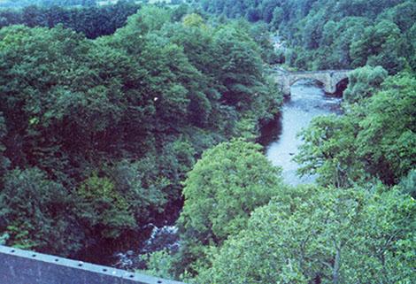view of river from Pontcysyllte Aqueduct, Llangollen