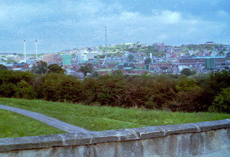 Monsanto Works seen from Pontcysyllte Aqueduct