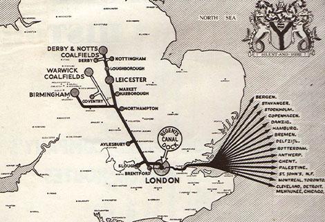 Grand Union Canal Company map, 1929