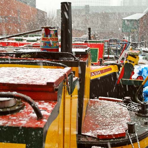 Gas St Basin in the snow