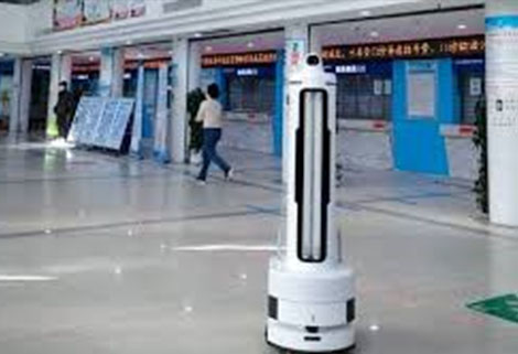 YouiBot robots checking temperatures in public places daily