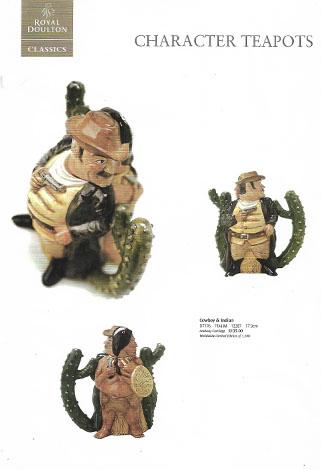 royal doulton character teapots