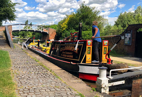 canal boat at Hawkesbury Junction