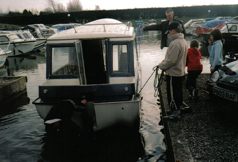 caraboat first test launch, 2005