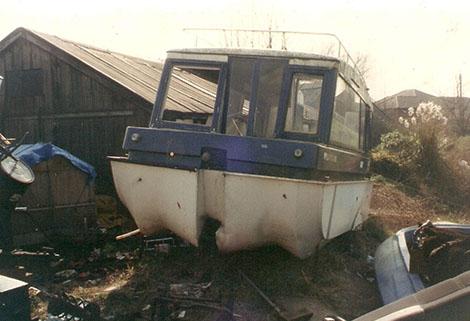 caraboat helterskelter at Lytham boatyard 2004