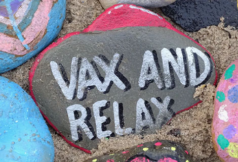 vax and relax stone painting (photo by Belinda Fewings)