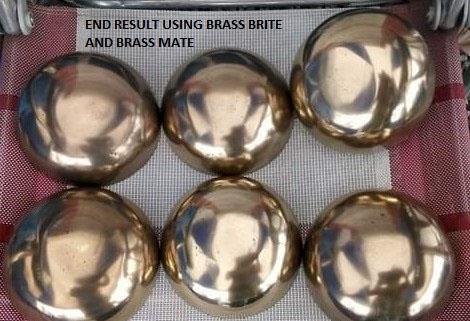shiny brass domes