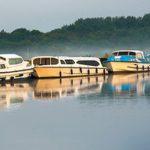 norfolk broads - moored boats