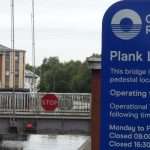 bob sanders plant swing bridge at Leigh